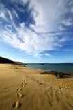 Littoral et été d'étang de musc de l'eau de plage de nuage de pas Photos libres de droits