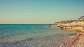 Littoral grec Photos libres de droits