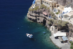 Littoral grec d'île Image stock