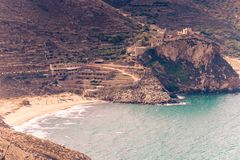 Littoral grec sur Péloponnèse, Mani Peninsula Photographie stock