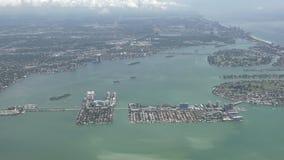 Littoral 4K aérien de Miami Beach clips vidéos