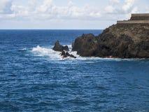 Littoral (l'Océan Atlantique) Images libres de droits