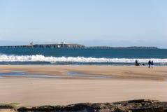 littoral le Northumberland photo libre de droits