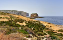 Littoral méditerranéen Malte d'île de Gozo Photos stock