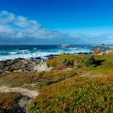 Littoral péninsule près de Pebble Beach, Pebble Beach, Monterey, C Photo libre de droits