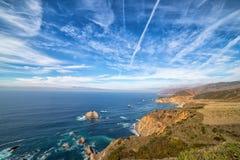 Littoral Pacifique le long de la route 1, la Californie Photo libre de droits