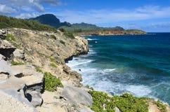 Littoral, plage de Poipu, Kauai images stock