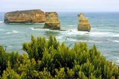 Littoral près de grande route d'océan Victoria, Australie image stock