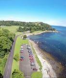 Littoral rocailleux Carnfunnock Co Antrim Irlande du Nord photo libre de droits