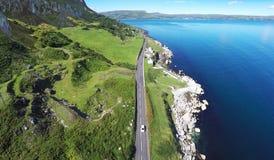 Littoral rocailleux Co Antrim Irlande du Nord image libre de droits