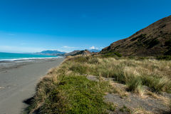 Littoral rocailleux de Kaikoura, Nouvelle-Zélande Images libres de droits