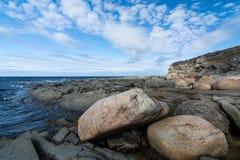 Littoral rocailleux de Terre-Neuve Images libres de droits