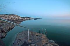littoral rocheux Photographie stock