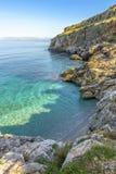 Littoral rocheux de Zingaro, Sicile, Italie Image libre de droits