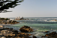 Littoral rocheux Monterey Photo stock