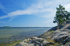 Littoral scandinave Photo libre de droits