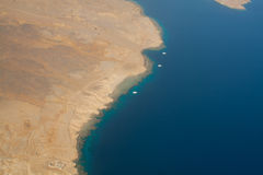 Littoral Sinai, la Mer Rouge Photos stock
