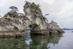 Littoral spectaculaire à Matsushima, traditionnellement considéré comme o Image libre de droits
