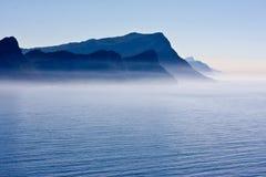 Littoral sud-africain dans le bleu Photos libres de droits