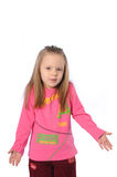 Litttle girl don't know Royalty Free Stock Image