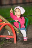 Litttle Girl At Playground Royalty Free Stock Image
