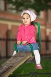 Litttle Girl At Playground Royalty Free Stock Photo