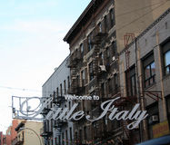 Litttle Italy Sign NYC royalty free stock photography