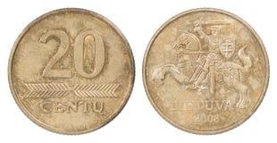 20 Lituânia iluminaram-se Imagem de Stock Royalty Free