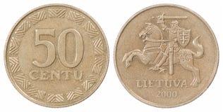 50 Lituânia iluminaram-se Foto de Stock