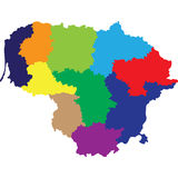 Lituania royaltyfri illustrationer