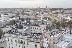 lituania Ciudad vieja de Vilnius Palacio de los duques magníficos Imagen de archivo libre de regalías