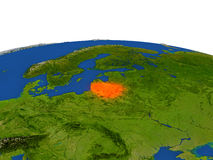 Lituania en rojo de la órbita stock de ilustración