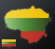 Lituania modern halftone Stock Images