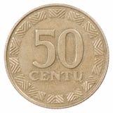 50 Lituania si sono accesi Fotografia Stock Libera da Diritti