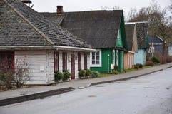 Lituania Trakai Los edificios rurales viejos imagen de archivo