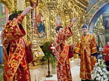 Liturgia alla cattedrale di St Michael Immagini Stock