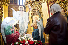 Liturgia alla cattedrale di St Michael Immagine Stock