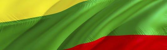 Litva flag. Flag of Lithuania. 3D Waving flag design,3D rendering. The national symbol of Lithuania background wallpaper. 3D. Ribbon, wallpaper, pattern stock photos