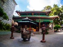 Liu-rong-si, пагода, Temple of The Six Banyan Trees, Гуанчжоу c Стоковые Изображения RF