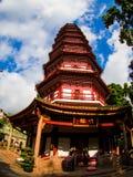 Liu-rong-si, пагода, Temple of The Six Banyan Trees, Гуанчжоу c Стоковое Изображение RF