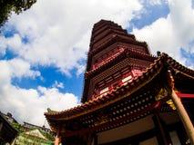 Liu-rong-si, пагода, Temple of The Six Banyan Trees, Гуанчжоу c Стоковые Фотографии RF