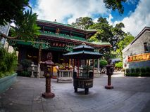 Liu-rong-si, пагода, Temple of The Six Banyan Trees, Гуанчжоу c Стоковое фото RF