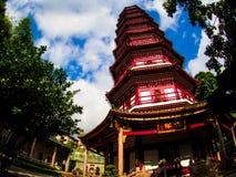 Liu-rong-si, пагода, Temple of The Six Banyan Trees, Гуанчжоу c Стоковое Изображение