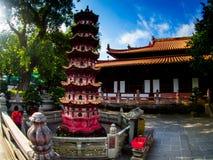 Liu-rong-si, пагода, Temple of The Six Banyan Trees, Гуанчжоу c Стоковая Фотография RF