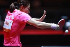 LIU Shiwen backhand. Women`s Singles Round of 4 World table tennis championships in Dusseldorf. 29 May 6 june 2017 Stock Photo