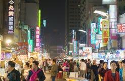 Liuhe nocy rynek w Kaohsiung Zdjęcie Stock