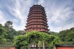 Liuhe pagod ( Sex harmonier Pagoda) i Hangzhou Kina Arkivfoto