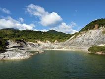 Liuhuangku geothermal scenic area,taiwan stock photo