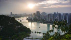 LiuJiangHe au crépuscule photo libre de droits