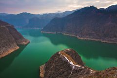 Liujiaxia reservoir winter Royalty Free Stock Image